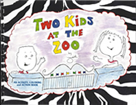 Two Kids at the Zoo Front Cover